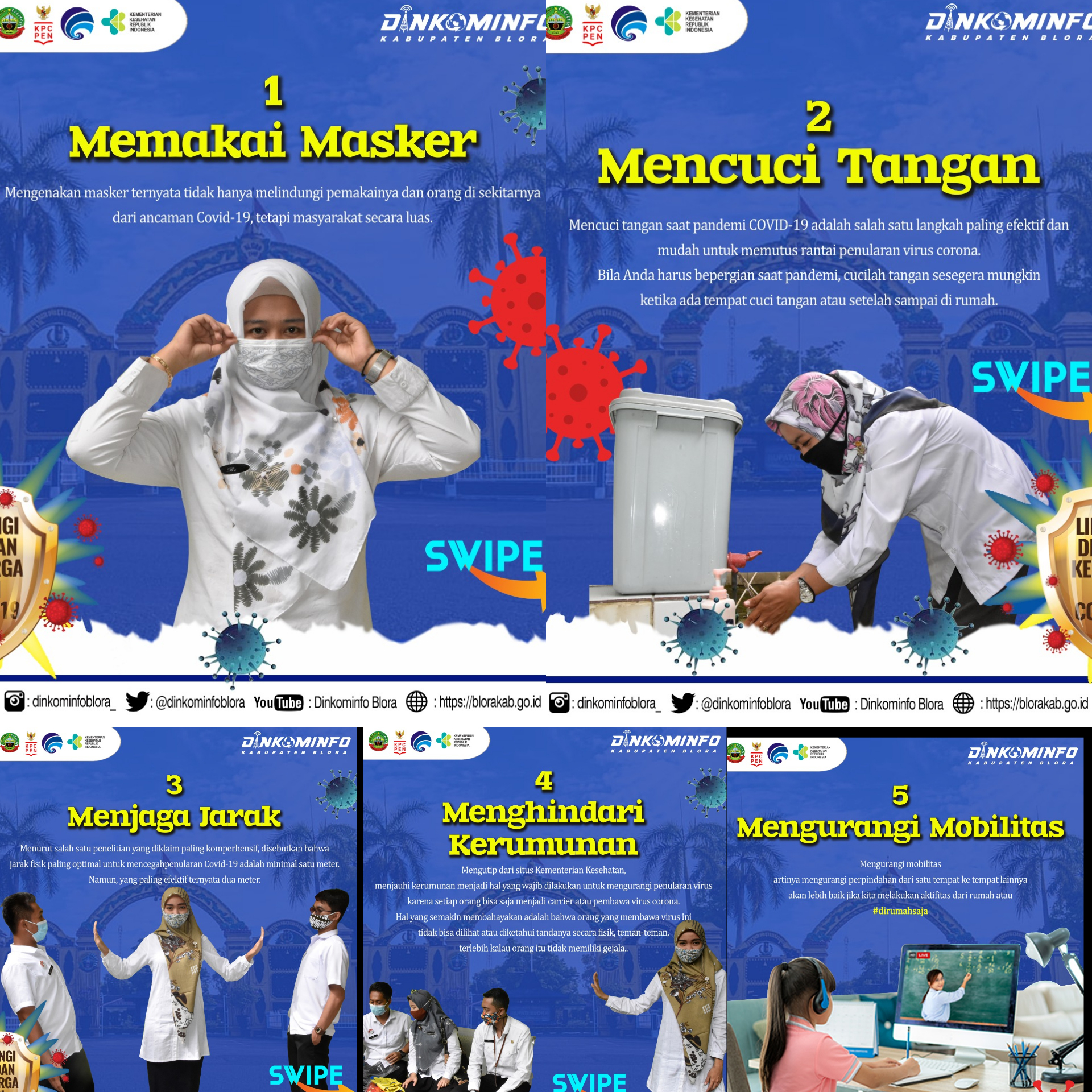 Menjaga 5M, pesan dari sahabat SMP Karang Arum