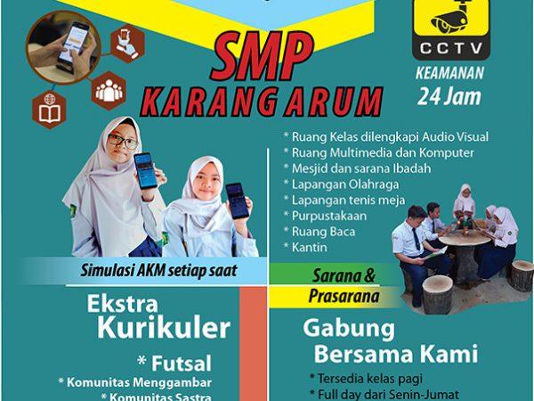 Spanduk Pohon PPDB SMP Karang Arum 2021/2022